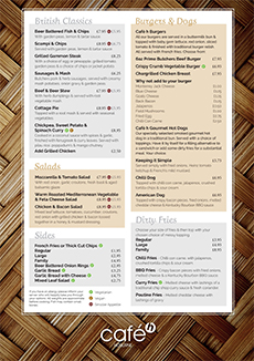 Food Menu - Back