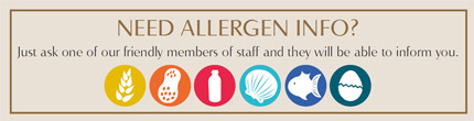Allergen Info - ask a member of staff